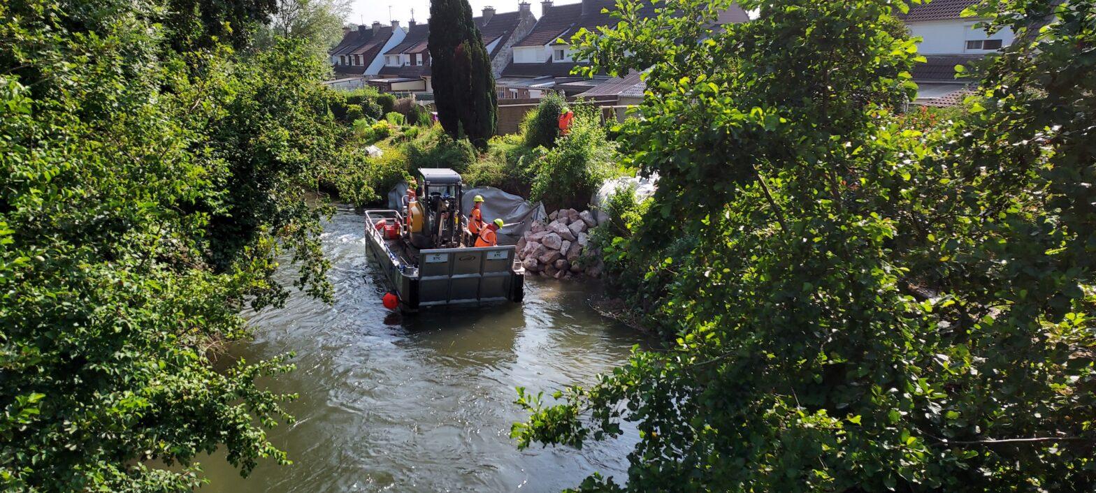 Renforcement d'une digue dans le Pas de Calais